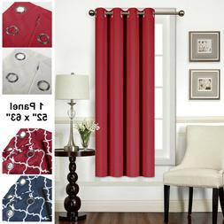 """Mellanni Blackout Curtains 1-Panel 52""""x63"""" Thermal Insulated"""