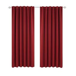 Deconovo Blackout Curtains for Kitchen Window Back Tab and R