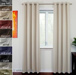 NIM Textile BLACKOUT Curtains 2 and 1 Panel Sets Thermal  Ey