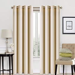 EASELAND Blackout Curtains 2 Panels Set Room Darkening Drape