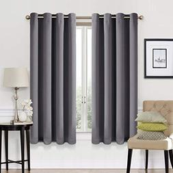 EASELAND 99% Blackout Curtains 2 Panels Set Room Darkening D