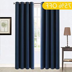 99% Blackout Curtains Thermal Insulated Grommets Drapes for