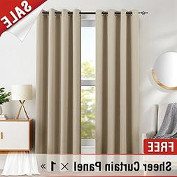 Blackout Curtains for Bedroom Triple Weave Light Blocking Wi