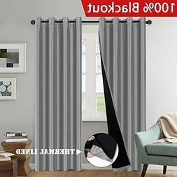 H.VERSAILTEX Premium Full Blackout Curtains Elegant Faux Sil