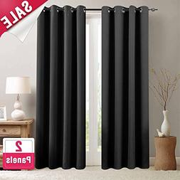 Blackout Curtains for Bedroom 84 inches Long Triple Weave Wi