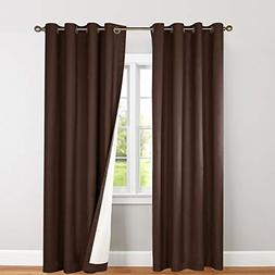 jinchan Blackout Curtains for Bedroom, Lined Thermal Insulat