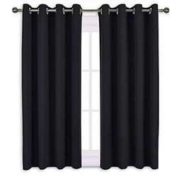 NICETOWN Window Curtains Blackout Drapes - Black Energy Savi