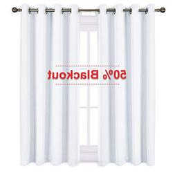 """NICETOWN 50% Blackout Curtains for Bedroom -  52"""" Width x 63"""