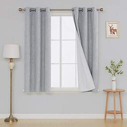 Deconovo Blackout Curtains with White Backing Grommet Top He