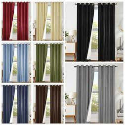 blackout curtains black bedroom window curtain thermal
