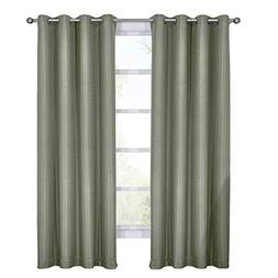 Royal Tradition Blackout Curtains -Set of 2  Aqua Diamond Ja