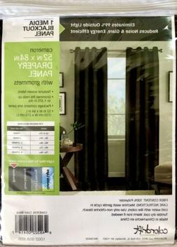 blackout curtains drapery panels 52x 84 textured