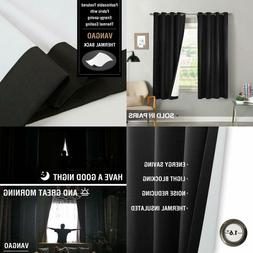 Blackout Curtains For Bedroom 63 Inch Length Thermal Insulat
