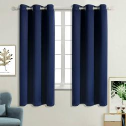 blackout curtains for bedroom grommet thermal insulated