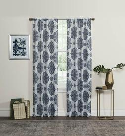 "ECLIPSE Blackout Curtains for Bedroom - Olivia 37"" x 63"" Ins"