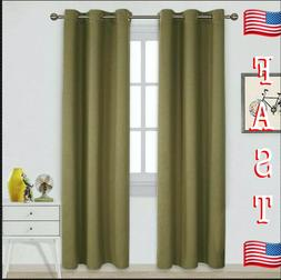NICETOWN Blackout Curtains for Living Room 52 x 63 Inch in O