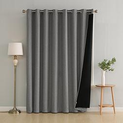Deconovo 100% Blackout Curtains Grommet Top Faux Linen Windo
