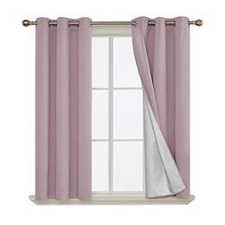 Deconovo Blackout Curtains Grommets Room Darkening Thermal I