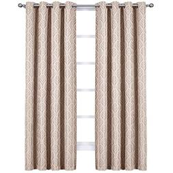 Royal Tradition Blackout Curtains -Set of 2  Taupe Hilton Ja