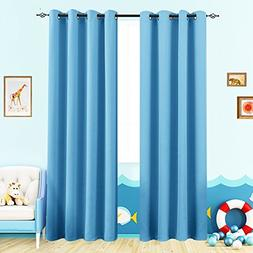 Curtains for Boys Room 63 inches Curtains Blue Kids Room Tri