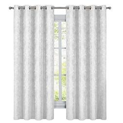 sheetsnthings Blackout Curtains -Set of 2 Bali,  White Moder