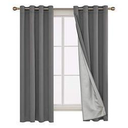 Deconovo Blackout Curtains Pair Grommet Curtains with Backsi