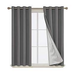Deconovo Blackout Curtains Grommet Top Thermal Insulated Dec