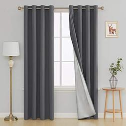 Deconovo Blackout Curtains Thermal Insulated Draperies with
