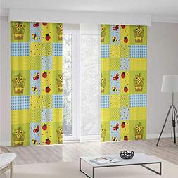 iPrint Blackout Curtains,Nursery,Living Room Bedroom Decor,G