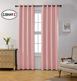 Miuco Blackout Curtains Room Darkening Curtains Textured Gro