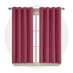 blackout curtains thermal insulated 52x72 inch set