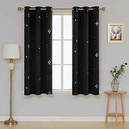 Deconovo Blackout Curtains Thermal Insulated Geometric Print