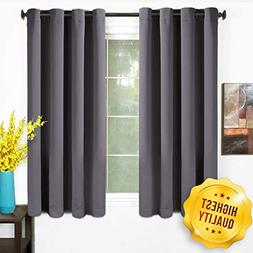 TEKAMON 99% Blackout Curtains 2 Panels Thermal Insulated Sol