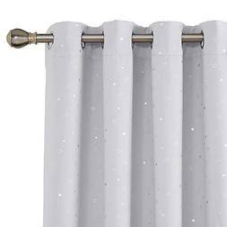 Deconovo Blackout Curtains Thermal Insulated Night Sky Trink