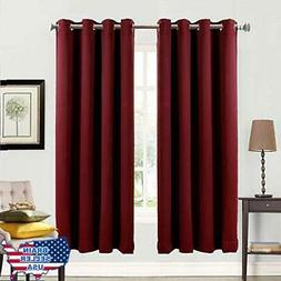 Balichun Blackout Curtains Thermal Insulated Solid Grommets