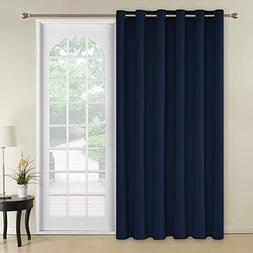 Deconovo Solid Color Thermal Insulated Wide Width Curtains B