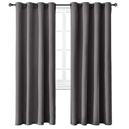 WONTEX Blackout Curtains Thermal Insulated with Grommet Curt