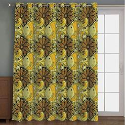 Joy2016 Blackout Curtains for Patio Sliding Door, Extra Wide