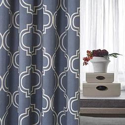 Blackout Curtains for Bedroom 84 inches Long Moroccan Tile P