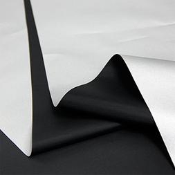 Blackout Drapery Shade Fabric Black and Silver 100 Percent S