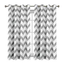 Flamingo P Chevron Print Blackout Curtain for Bedroom Therma