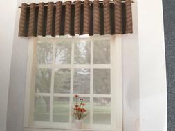 blackout energy efficient thermal lined window valance