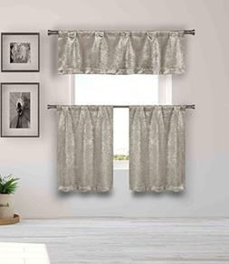 Kelvin 23 Blackout Energy Saving Taupe 3 Piece Window Curtai