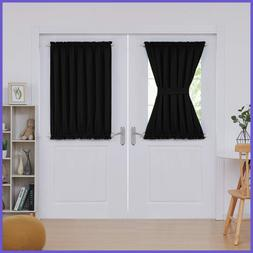 Blackout French Door Rod Pocket Curtains For Bedroom Panel C