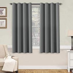H.VERSAILTEX Blackout Grey Curtains for Bedroom/Living Room,