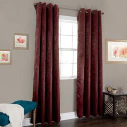 Blackout Grommet Curtain Single Panel 84 Inches Long Silky F