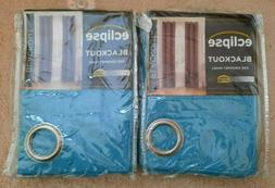 "ECLIPSE BLACKOUT GROMMET PAIR OF CURTAINS - 42"" X 63"" - WIND"