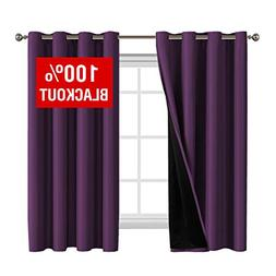 Flamingo P 100% Blackout Curtains 63 Length Thermal Insulate