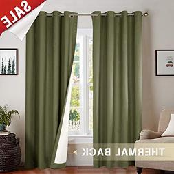jinchan Blackout Lined Curtain Panels for Bedroom, Thermal I