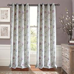 Anady Top Blackout Lined Curtains Floral Drapes 2 Panel Decr